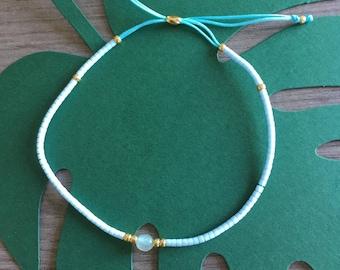 color was Bohemian seed beads adjustable bracelet
