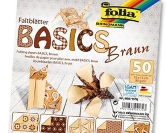 "Paper origami ""Brown"" set of 50"