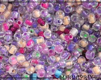 SET of 500 beads of rock glass translucent colorful Ø 4 mm m2338