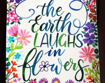 The Earth Laughs in Flowers Watercolour Art Print