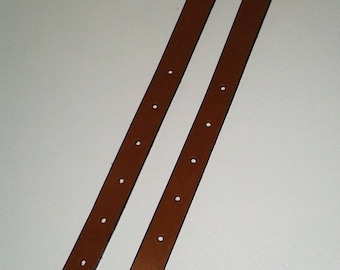 Leather strap barenia length 30 cm with roller buckle
