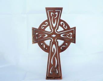 Cut wooden Celtic Cross