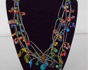 Feminine Playful Multicolored Necklace