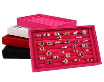 Display ring box jewelry box Rectangle 22 x 14 x 3 cm within 15 days