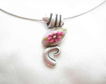 Necklace 'as an ellipse ponsetia No. 25'