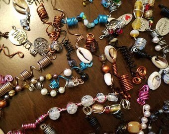 5pc Mixed Loc jewelry lot, dreadlock jewelry, dread jewelry.