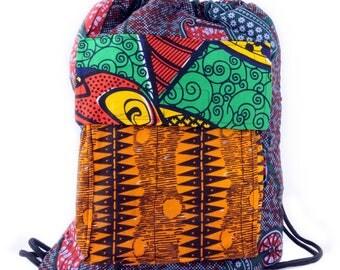 African Print Ankara Drawstring Bag (Limited Quantity!)