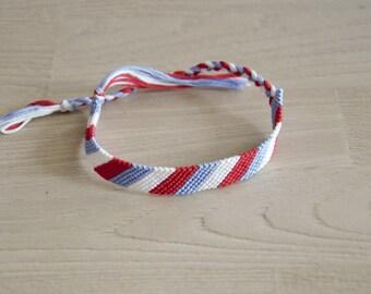 Friendship Bracelet, friendship bracelet, red white blue