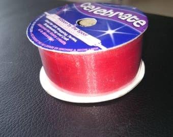 Red nylon Ribbon 25 mm length 1 meter