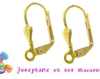 2 sleepers loop of ear gold 17x11mm