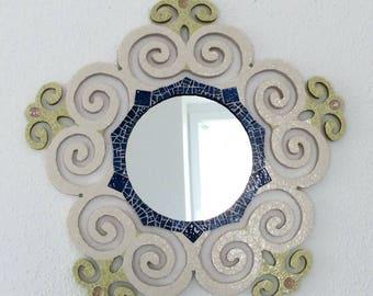 Mirror mosaic, Briare enamel and millefiori.