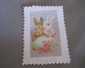 Image transfer, to sew, Easter, Bunny, egg, flowers
