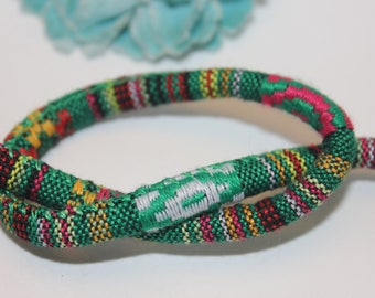 5 m cord cotton ethnic green - SC59873 - 6mm