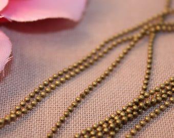 5 m chain ball fancy Bronze 1.5 mm
