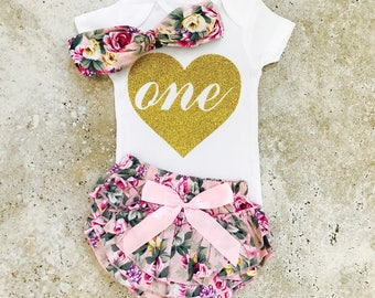 First Birthday Outfit Girl, First Birthday Outfits, First Birthday Girl, First Birthday Shirt, 1st Birthday Girl Outfit, One Year Old Girl