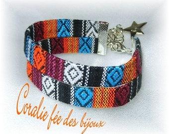 Bracelet double Ribbon ethnic fashion