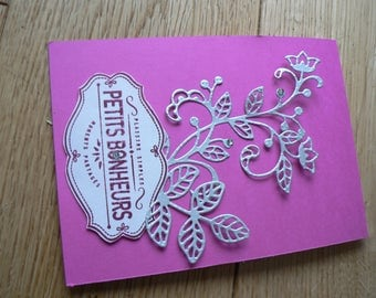 Arabesques and flowers mother's Day card