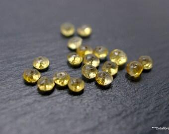 set of 5 citrine beads 5 mm