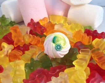Ring Fimo green lemon meringue