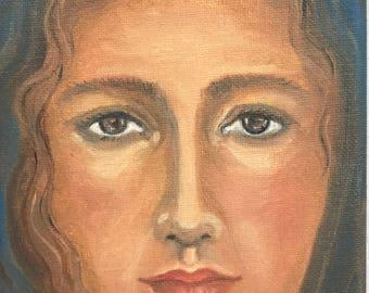 Peace -original art work- oil on canvas -5x7