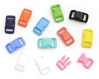 Set of 12 plastic snaps, multicolor