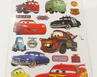 1 Board decal transfer dry Disney Cars rub - on transfer scratch