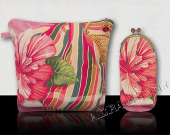 Set * matching toiletry bag and eyeglasses case *. Fabrics Designers - 2 models.