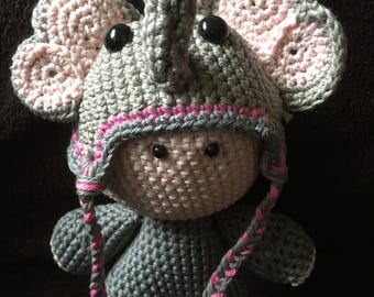 Crochet Amigurumi Doll Elephant