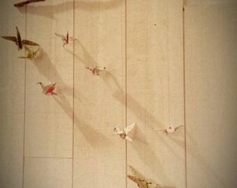 Mobile origami small cranes