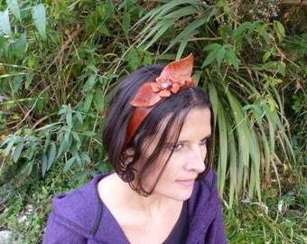 """Fairy leather band""""leaf""""fall colors"""