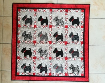 decorative Panel, fabric dog patchwork plaid