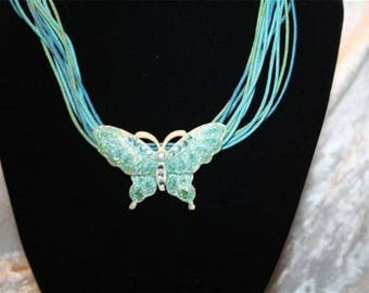 turquoise Butterfly Necklaces