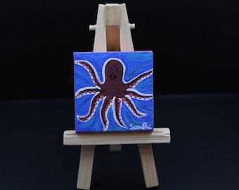 Miniature Octopus Painting