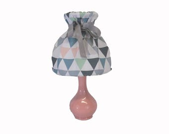 Small pastel Triangles lamp