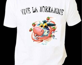 "Printed shirt man HUMORISTIQUE ""Normandy praise"""