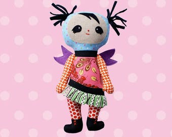 Design - Freya doll - sewing pattern Melly and Me