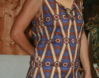 a pretty tunic sleeveless 100% cotton