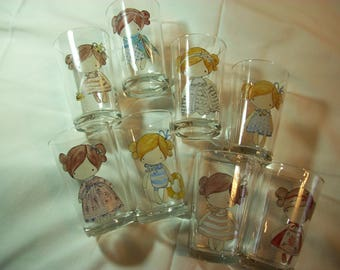 Hand painted water glasses