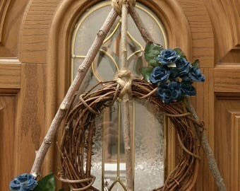 Hallowed Wizard Wreath, Magical Home Decor *Free Shipping*