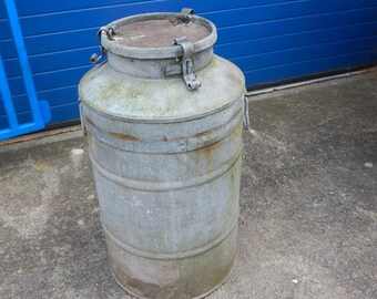 Large Zinc Milk Churn With Lid ~ Ideal Garden Plant Display