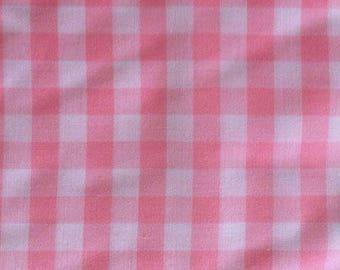 Cotton gingham Plaid pink 10 cm
