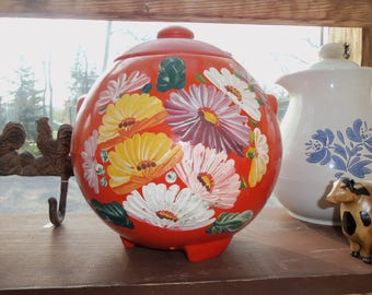 Folk Art Cookie Jar