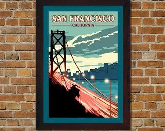 San Francisco CA - Vintage Travel Poster
