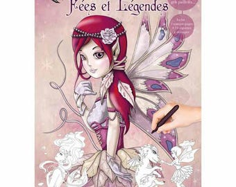 Legends and fairy Theme coloring book