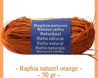 Natural raffia Orange 50 g