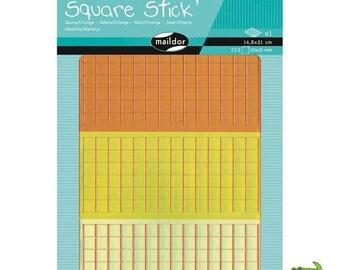 Set of 252 mosaic stickers adhesives of 1 cm, yellow/orange, MAILDOR, child, adult, new