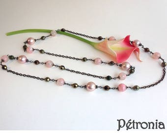 Necklace mesh beads Petronia