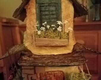 Tuscan style fairy house
