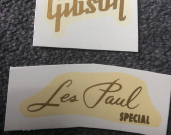 Gibson decals gold Les Paul Special