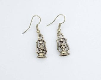 Fancy metal Lantern earrings